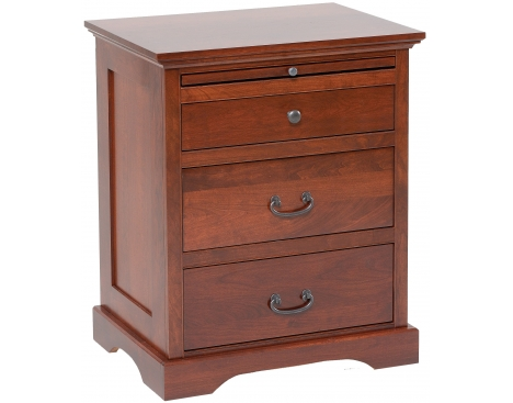 Elegance 3-drawer Nightstand w/ Pullout Shelf Image