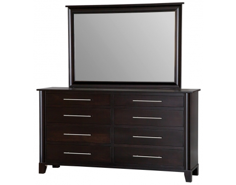 Metropolitan 8-Drawer Double Dresser w/ Tall Wide Mirror Image