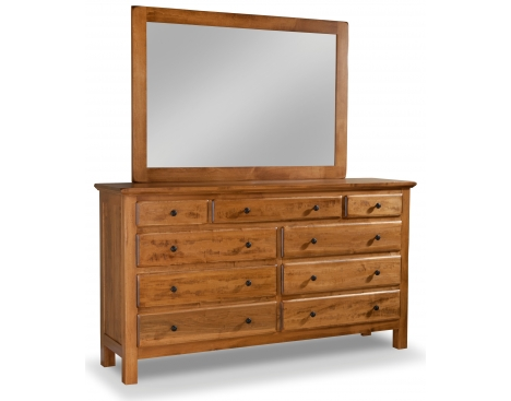 Lewiston 9-Drawer Double Dresser w/ Tall Wide Mirror Image