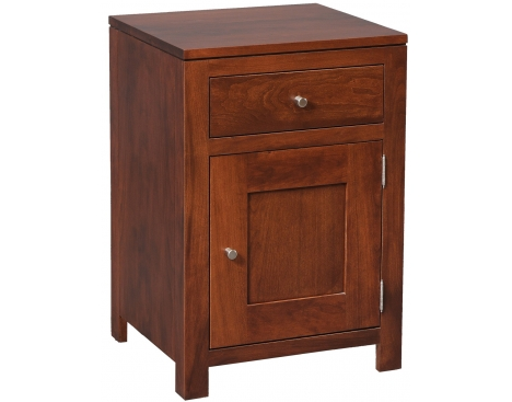 Modern 1-Drawer 1-Door Nightstand Image