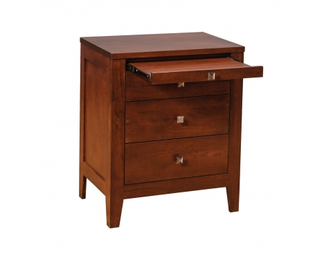 Nouveau 3-drawer Nightstand w/ Pullout Shelf Image