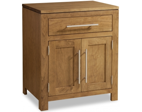 Modern 1-Drawer 2-Door Nightstand Image