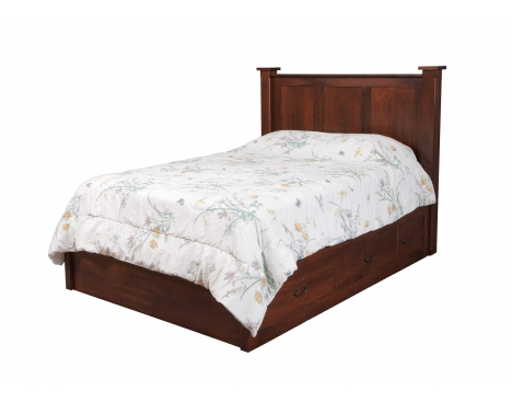 "Treasure Queen Pedestal Bed w/ 60"" Wide Drawers Image"